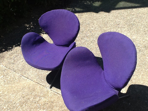 Pair of Arne Jacobsen Swan Chairs, Danish, manufactured by Fritz Hansen, ca. 1971, number 3320