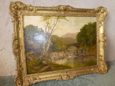J.A.Kingston (British, 19th-20th Century), Landscape, oil on canvas, signed, early 20th century