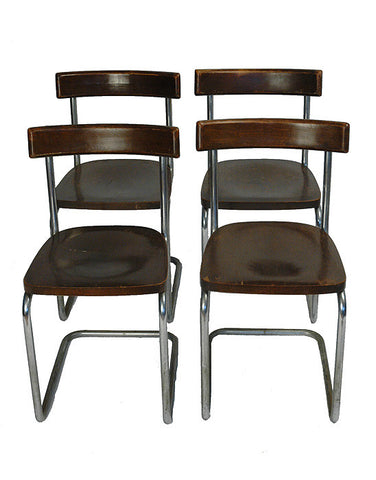 Set of Four Mart Stam Cantilever Chairs