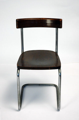 Set of Four Mart Stam Cantilever Chairs, Italian, Model B 262, designed ca. 1927 for Thonet, ca. 1930s