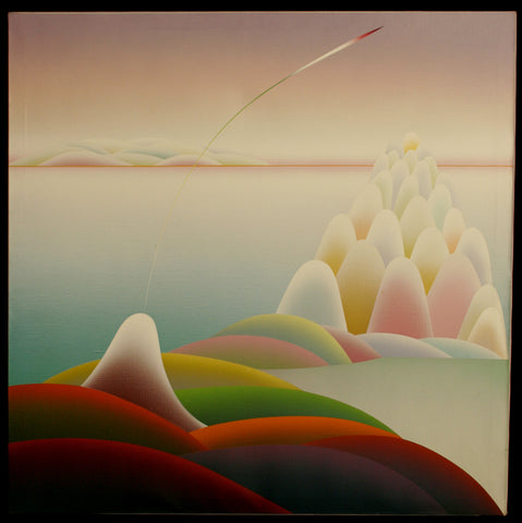 Stefan Knapp (Polish/British, 1921-1996), Abstract Geometric Landscape, oil on canvas, signed and inscribed