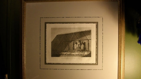The Inside of the House, in the Morai, in Atooi James Cook's third voyage to the Pacific, engraving, ca. 1784