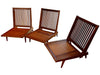 George Nakashima (Japanese/American, 1905-1990), Three Black Walnut Armless Lounge Chairs, early 1950s