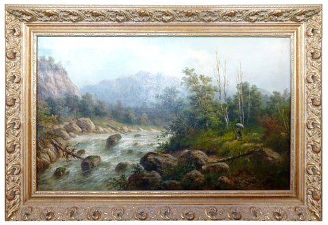 William S. Rose (English,1810-1873), Landscape, oil on canvas, signed, 19th century
