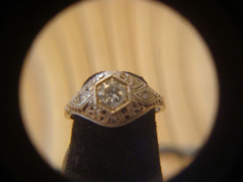 14K Gold and Diamond Ring, ca. 1930s