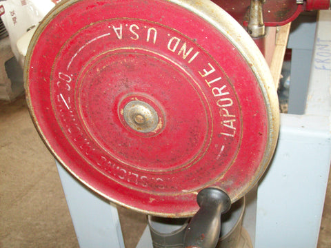 American Metal Hand Crank Meat Slicer, U.S. Slicing Machine Co., Laporte, Indiana, ca. 1926