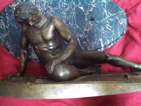 "Patinated Bronze Figure of the ""Dying Gaul"", probably Italian, late 19th/early 20th century"