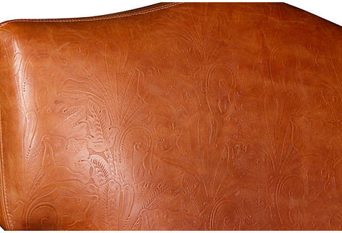Ralph Lauren Embossed Leather Club Chair, late 20th century