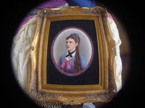 KPM Painted Porcelain Portrait Plaque, German, ca. 1889
