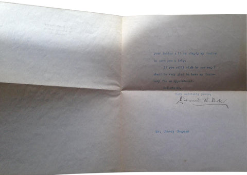Three Typed Letters Signed to Ad Pioneer Clowry Chapman Edward W. Bok (1922) and Sherwin Cody (1943); 3 typed letters to Clowry Chapman