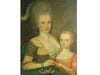American Folk Art Portrait of Mother and Child