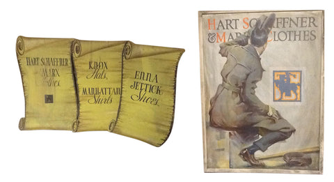 Four Hart Schaffner and Marx Advertising Posters,  circa 1920s