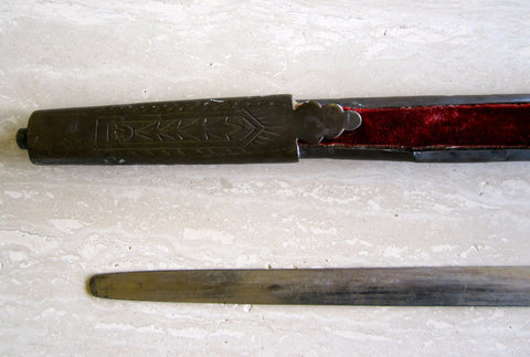 Austro-Hungarian Officer's Metal Sword and Scabbard, the sword dated 1831