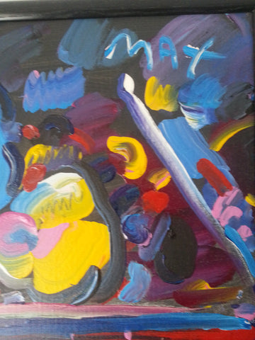Peter Max (German/American, b. 1937), Untitled, acrylic on canvas, signed, 1989