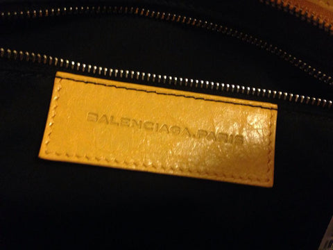 Balenciaga Yellow Leather City Bag, 2012