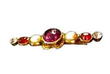 Chanel Byzantine-Style Gold-Plated and Glass Brooch