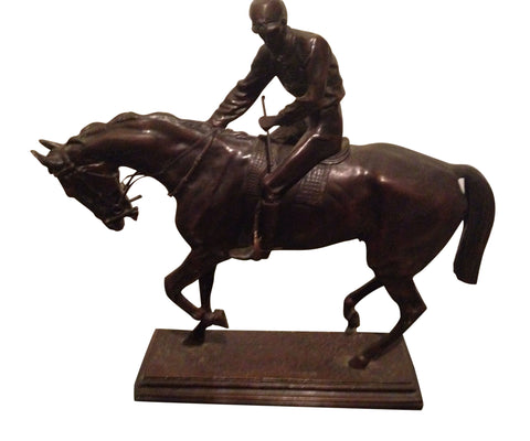 "After Isidore Jules Bonheur (French, 1827-1901), ""Le Grand Jockey"", a patinated bronze sculpture, signed and numbered 3/15, 20th century"