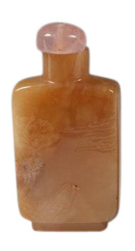 Chinese Yellow Agate Snuff Bottle, ca. 1880-1912
