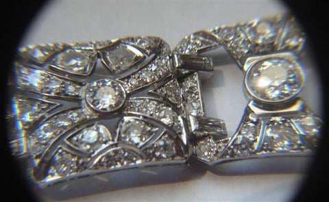 Art Deco Style Platinum and Diamond Strap Bracelet, 20th century
