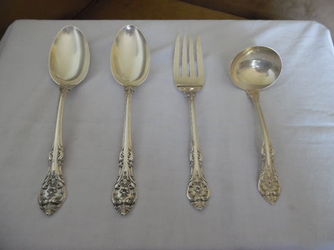 American Silver Flatware Service, Gorham Mfg. Co., Providence, R.I., 20th century, in the King Edward pattern