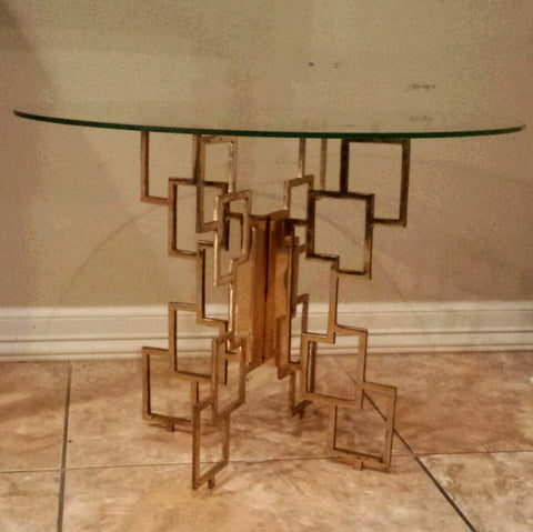 Brass Geometric Ocassional Table