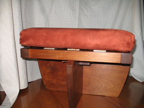 George Nakashima (Japanese/American, 1905-1990), Greenrock stool, walnut, New Hope, PA, signed and dated 1980