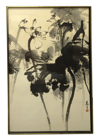 Lui-Sang Wong (Chinese/American, 20th Century), Untitled, ink on paper, signed and sealed, ca. 1970s