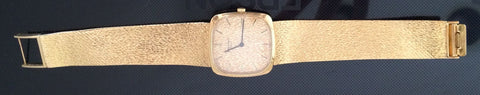 Swiss Men's Patek Philippe 18K Yellow Gold Dress Watch, Ref. 3566/Elipse model, ca. 1970s, with gold hammered bracelet