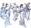Five French Art Nouveau Bisque Dancers, in the style of Agathon Leonard, ca. 1900