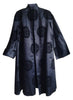 Black Chinese Silk Coat, ca. 1960
