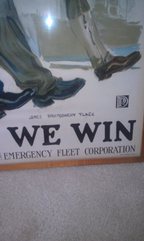 "American World War I Emergency Fleet Corporation Poster, James Montgomery Flagg (1877-1960) ""Together We Win"", lithograph, circa 1917"