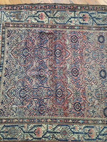 Square Persian Lilihan Rug, Western Iran, second quarter 20th century