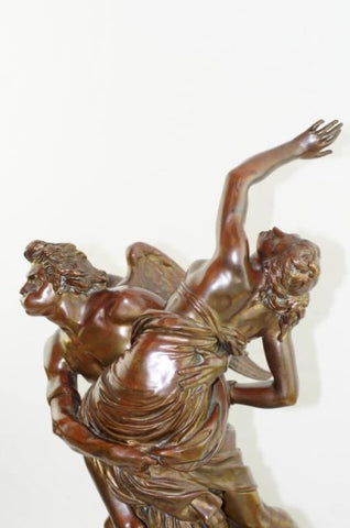 "Louis-Simon Boizot (French, 1743-1809), ""Abduction of Orithyia by Boreas"", patinated bronze sculpture, 18th/19th century"