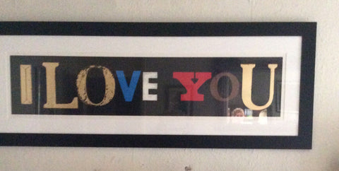 "Sir Peter Blake (British, b. 1932), ""I Love You (Black Gloss),"" screenprint in colors, signed, numbered 38/175, 2010"