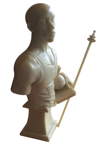 "Kehinde Wiley (American, b.1977), ""St. Francis of Adelaide"", cast marble and resin, signed, numbered 104/250, 2006"