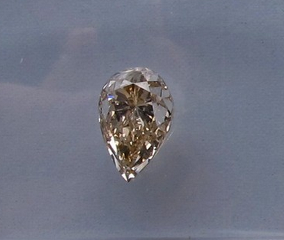 Pear Brilliant Cut Natural Fancy Light Yellow-Brown Diamond, 0.92 ct., SI1 clarity
