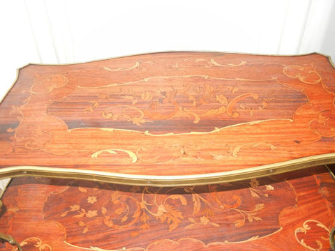 Louis XV Style Ormulu Mounted Marquetry Wood Table,  20th century
