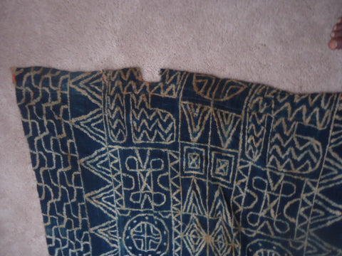 Bamileke Ndop Resist-Dyed Cloth,  early to mid 20th century