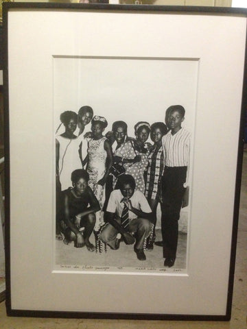 "Malick Sidibe (Malian, b. 1935), ""Soiree des Chats Sauvages"", gelatin silver print, signed, titled and dated"