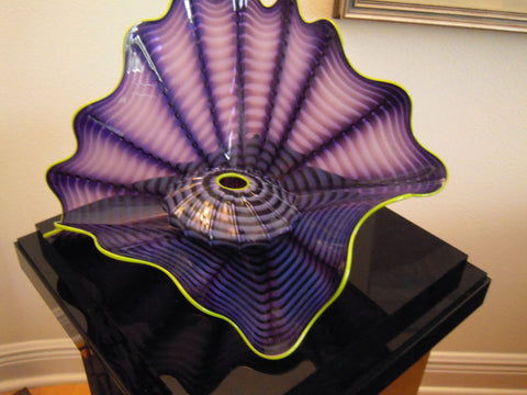 Dale Chihuly (American, b. 1941), Imperial Iris Persian Set, art glass sculpture, signed, 1999