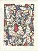 Jean Dubuffet (French, 1901-1985), Saturday Afternoon (Samedi Tantot), lithograph in colors, 1964, signed, numbered