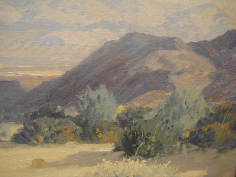 "Carl Sammons (American, 1883-1968), ""Morning Shadows, Palm Springs"", oil on canvas, signed"