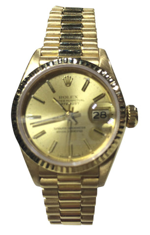 Ladies 18K Yellow Gold Datejust Wristwatch and Bracelet