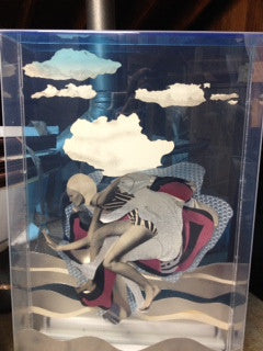 Larry Rivers (American, 1923-2002), Untitled (Woman in Form of a Swimmer), electrified mixed media in plexiglass box