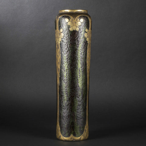 Legras-Saint Denis Cylindrical Glass Vase, French, 20th century