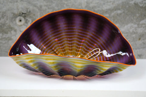 Dale Chihuly (American, b. 1941) ,Seaform Single, art glass sculpture, signed and dated 1992, with COA