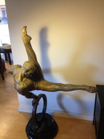 "Richard MacDonald (American, b. 1946), ""The Flair"", bronze sculpture, signed in the cast"