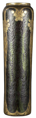 Legras-Saint Denis Cylindrical Glass Vase