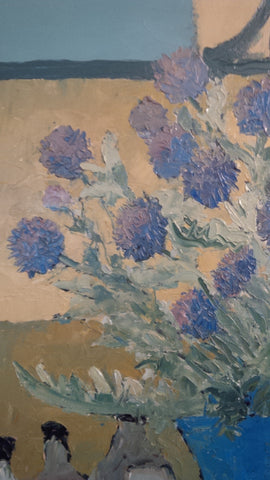 "Emmanuel Bellini (French, 1904-1989), ""Chardons"" (""Thistles""), oil on canvas, signed"