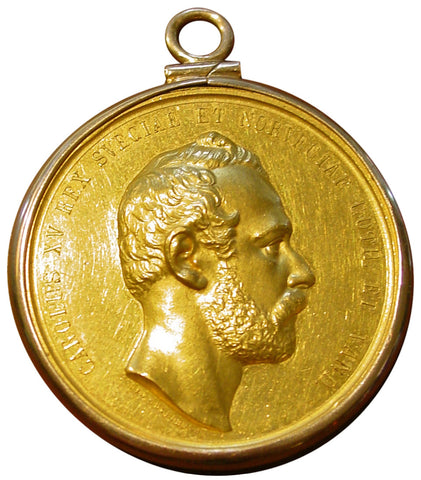 Swedish Gold Presentation Medal, Charles XV